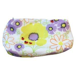 3/$15 Clinique Ladybug Floral Makeup Bag
